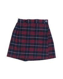 Plaid Button Front Skort