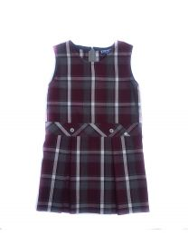 Drop Waist Plaid Jumper