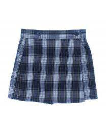Button Front Plaid Skort