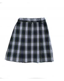 Box Pleat Plaid Skirt