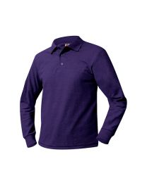 Youth Long Sleeve Polo with Arkansas Christian Academy Logo