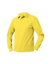 Youth Long Sleeve Pique Polo With ESTEM Logo