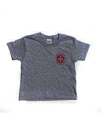 Adult Short Sleeve Tee Shirt With Garrett Memorial Logo