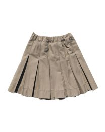 All Around Pleat Khaki Skirt