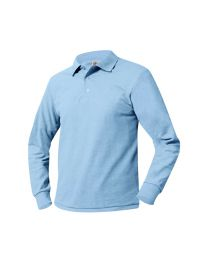Adult Long Sleeve Pique Polo With Lighthouse Christian Academy Logo