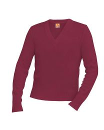 Youth V-Neck Sweater With NLR Montessori School Logo