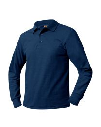 Youth Long Sleeve Pique Polo With Ridgefield Christian Academy Logo