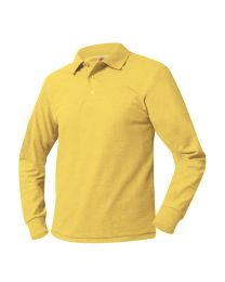 Adult Long Sleeve Pique Polo With St. Joseph Logo