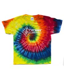 Youth Short Sleeve Tie Dye Tee With St. John Logo