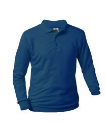 Youth Long Sleeve Pique Polo With Immaculate Conception Fort Smith Logo